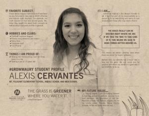 MCPS Student Spotlight Alexis Cervantes