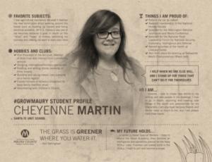 MCPS Student Spotlight Cheyenne Martin