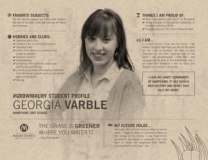 MCPS Student Spotlight Georgia Varble