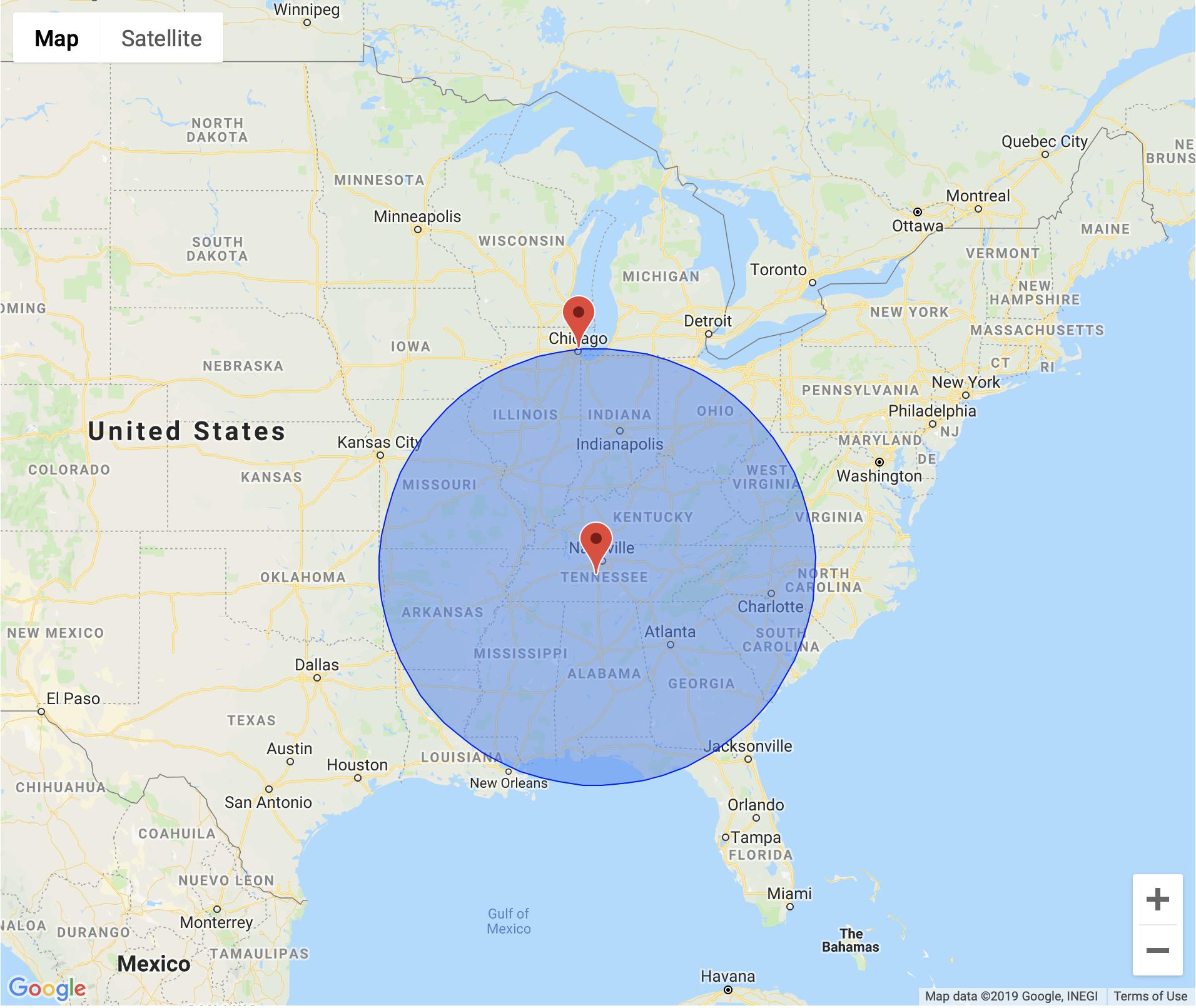 8 hr radius map